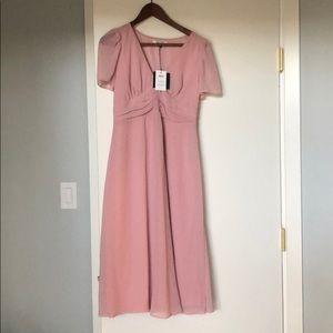 ASOS rose maternity dress
